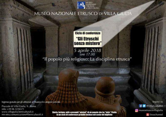 MUSEO NAZIONALE ETRUSCO DI VILLA GIULIA – Il popolo più religioso: La disciplina etrusca