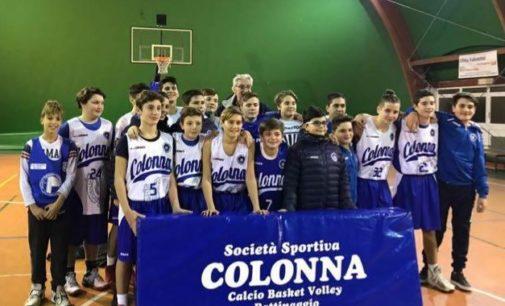Ssd Colonna (basket), l'Under 14 cede in gara1 di semifinale contro Motta Camastra
