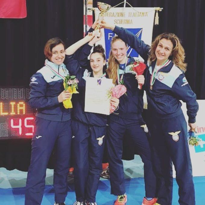 Lazio Scherma: la squadra di spada femminile in serie A1