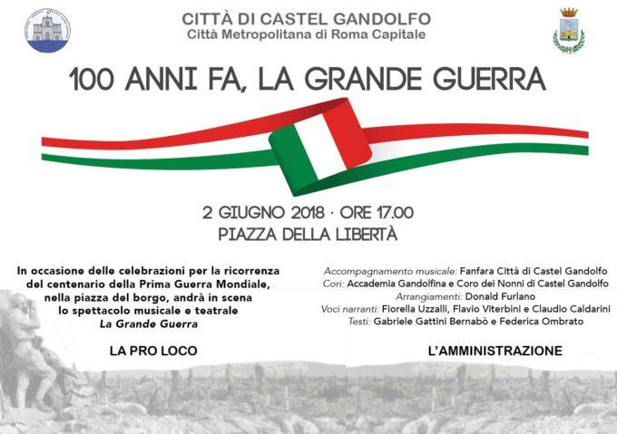 Castel Gandolfo – 100 anni fa, la Grande Guerra