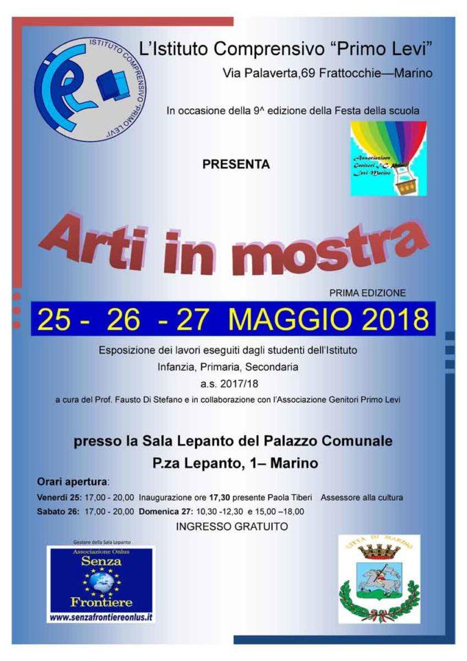 """""""Arti in mostra"""" alla Sala Lepanto – Marino"""