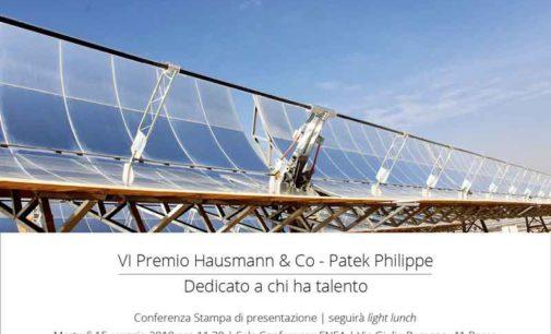 Energia: eccellenze ENEA al centro della 6° edizione del Premio Hausmann & Co – Patek Philippe
