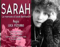 """Le memorie di Sarah Bernhardt"" al teatro Trastevere di Roma"