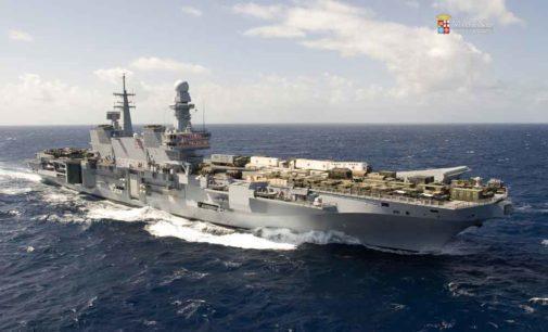 Marina Militare – Nave Cavour in Sosta a Civitavecchia sarà aperta alla visite per tutto il fine settimana