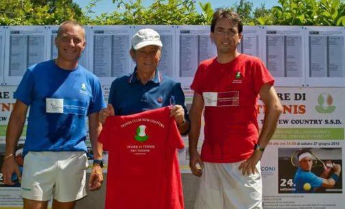 """Tc New Country Club Frascati, Modesto Molinari ripercorre la storia della mitica """"24 Ore di tennis"""""""