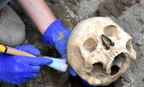 Pompei – Rinvenutala testadel fuggiasco nel cantiere dei nuovi scavi