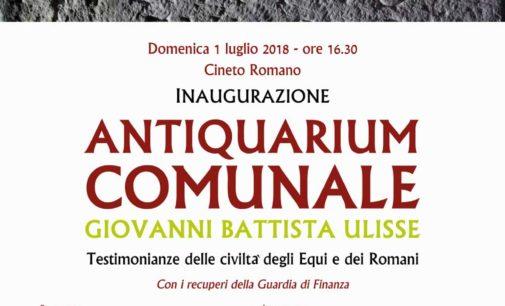 """Cineto Romano – Antiquarium comunale """"Giovanni Battista Ulisse"""""""