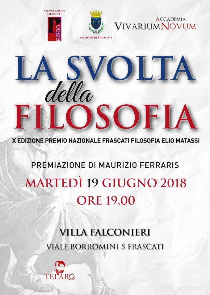 """""""La Svolta della Filosofia""""   – PREMIO NAZIONALE FRASCATI FILOSOFIA 2018"""