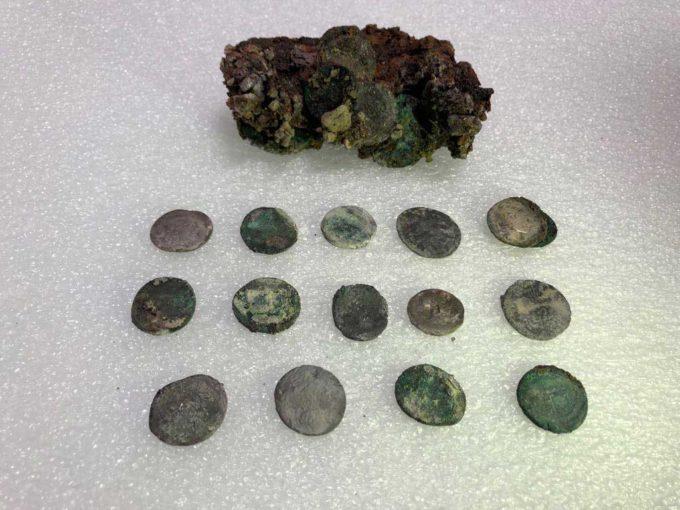 Pompei – Tesoro di monete del fuggiasco