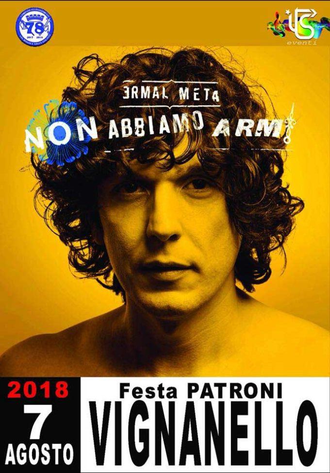 A Vignanello attesa per i live gratuiti di Ermal Meta e Cristina D'Avena