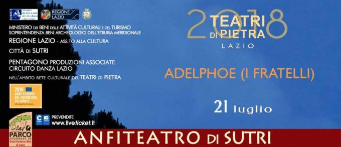 Sutri – Adelphoe, Teatri di Pietra prosegue con Terenzio