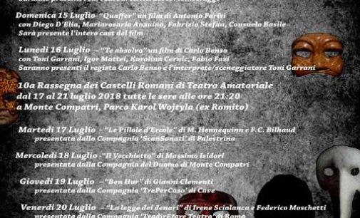Monte Compatri – 2° Festival del Cinema e  10° Rassegna dei Castelli Romani di Teatro Amatoriale