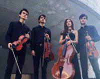 Il Quartetto Eos,  suona per la IUC a Parterre