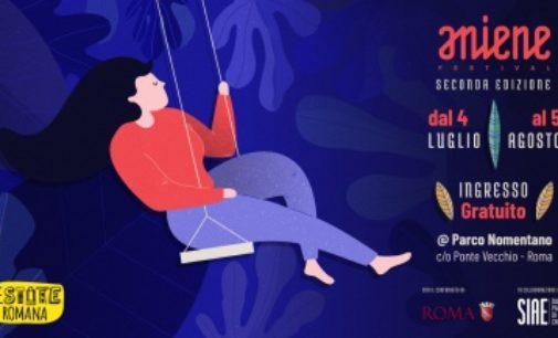 ANIENE FESTIVAL 2° ed   dal 4 luglio al 5 agosto 2018   Parco Nomentano   Roma