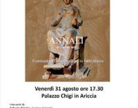 La presentazione del nuovo fascicolo degli Annali dedicati al Santuario di Demetra e Kore in Valle Ariccia