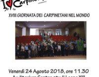 """XVIII giornata """"Carpinetani nel mondo"""""""