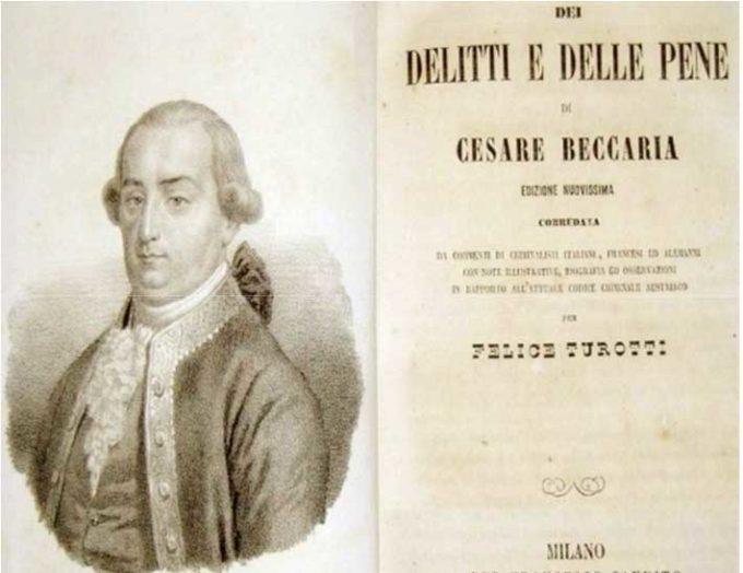 Spunti di riflessione: Cesare Beccaria, Dei delitti e delle pene