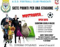 Football Club Frascati: lunedì si inizia con l'agonistica, martedì primi Open day Scuola calcio