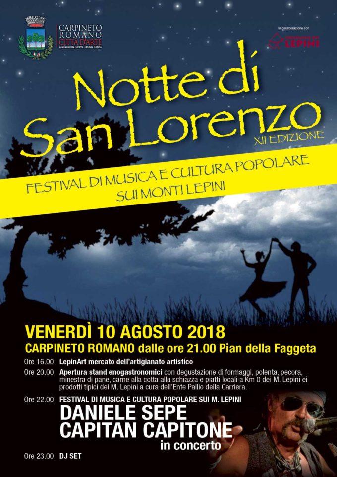 Carpineto Romano – Notte di San Lorenzo 2018