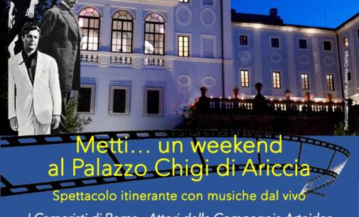 """""""Metti…un week end a Palazzo Chigi di Ariccia"""""""