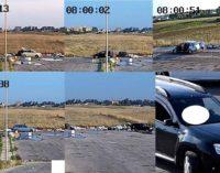 Ardea, le immagini di chi scarica abusivamente rifiuti in via Bergamo