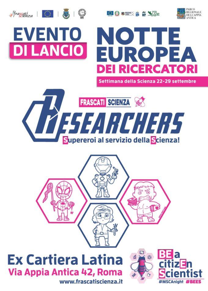 Sabato 22 settembre 2018  Evento di lancio della Settimana e Notte Europea dei Ricercatori BEES