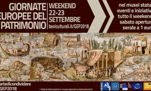 PARCO ARCHEOLOGICO POMPEI    Giornate Europee del Patrimonio – 22 e 23 settembre 2018