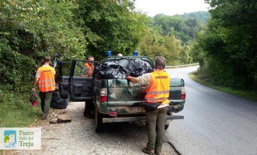 Parco Valle del Treja – Il personale del Parco ripulisce la strada provinciale e Monte Gelato