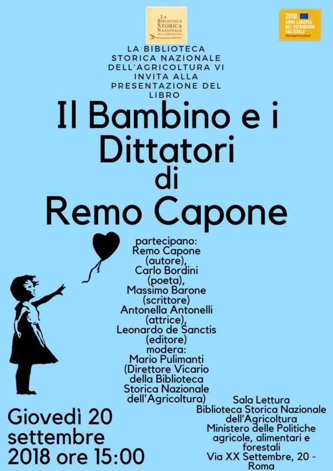 """""""Il bambino e i dittatori""""  di Remo Capone"""