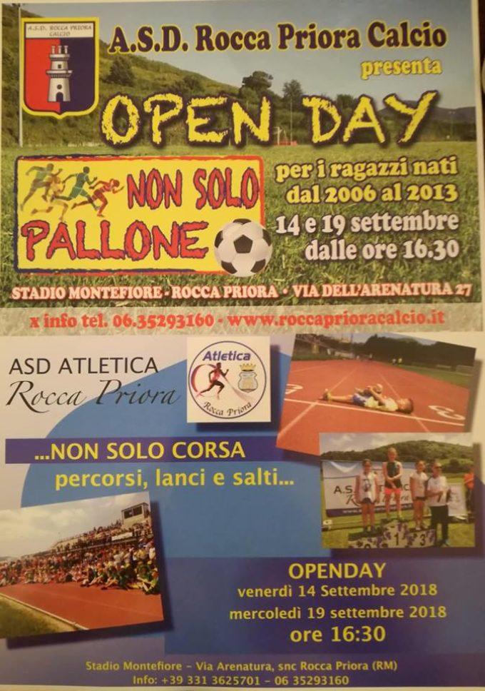 """Rocca Priora, venerdì il primo """"Open day"""" della Scuola calcio alla presenza di Marco Amelia"""