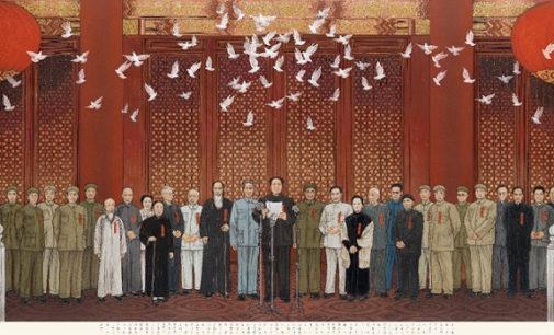 Quattro pittori d'immagine all'Accademia Nazionale Cinese di Pechino
