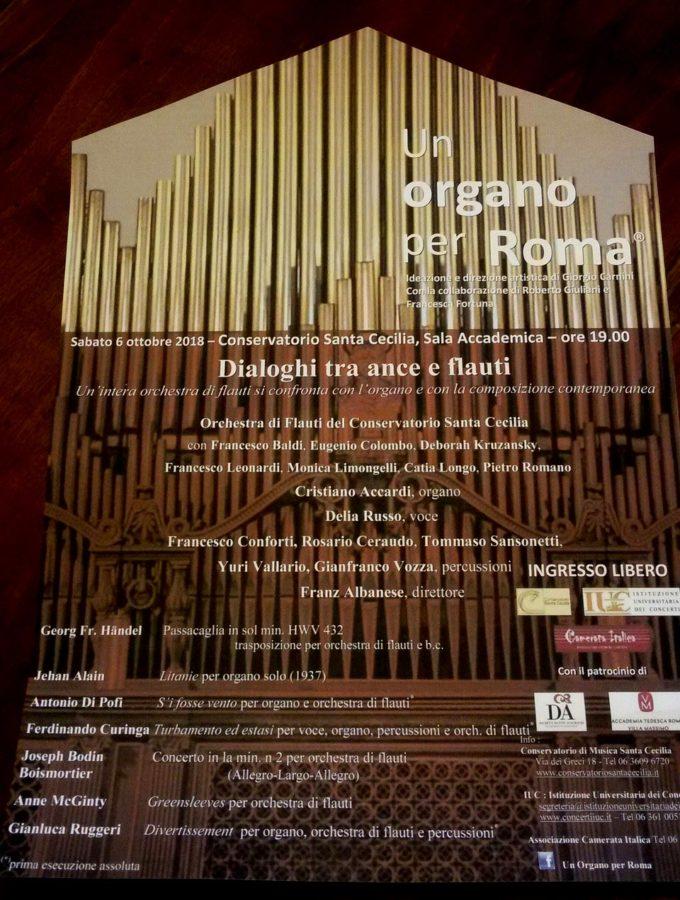 """Festival """"Un Organo per Roma 2018"""""""