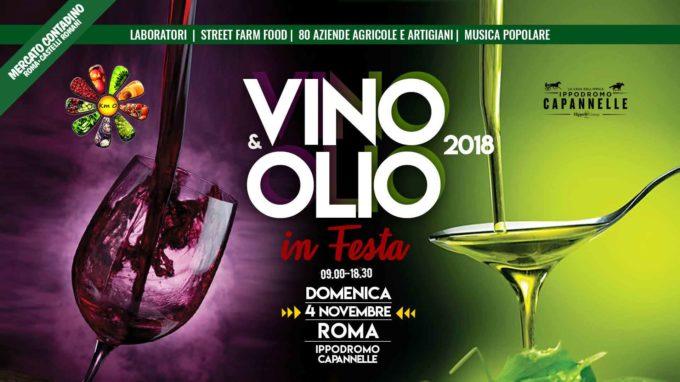 VINO e OLIO in FESTA 2018  Mercato Contadino Roma e Castelli Romani