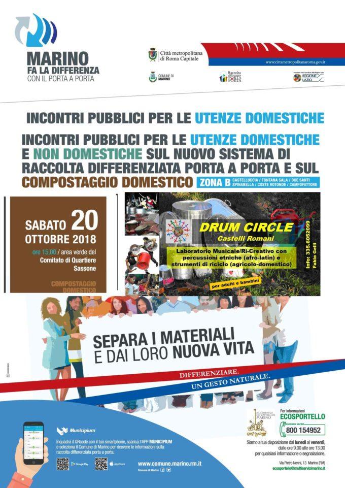Marino – INCONTRO PUBBLICO SUL COMPOSTAGGIO DOMESTICO