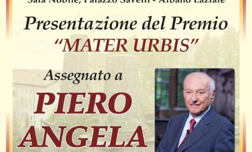 Albano Laziale, 20 ottobre Piero Angela a Palazzo Savelli per il premio Mater Urbis