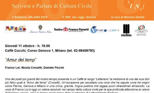 Alla Pasticceria Cucchi l'11 Ottobre il gran finale di Letteralmente Festival con Franco Loi