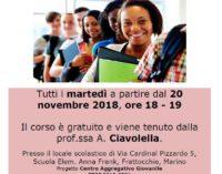 A Frattocchie riparte il Corso di Italiano per Stranieri di Marino Aperta Onlus