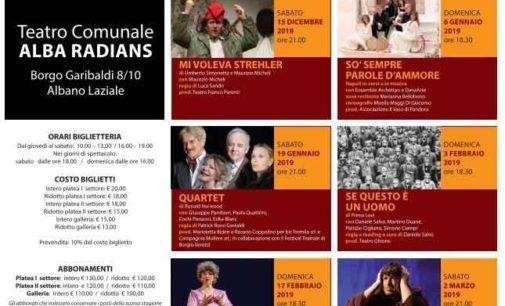 """Albano Laziale: 11 novembre """"Aspettando la Stagione Teatrale"""", 25 novembre la prima con """"Le Bal"""""""