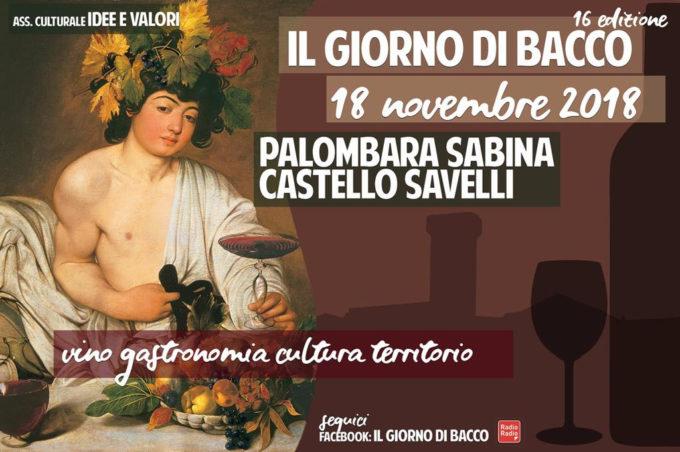 """""""Il Giorno di Bacco"""", a Palombara Sabina"""