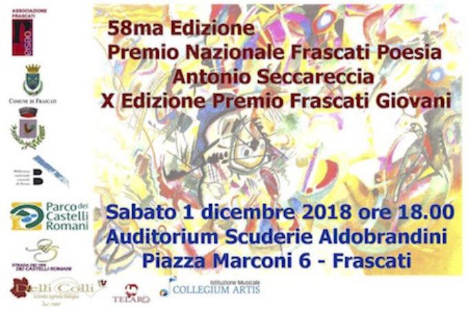 58ª edizione Premio Nazionale Frascati Poesia Antonio Seccareccia