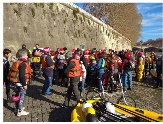 Roma 15 dicembre 2018. Natale sul Tevere discendendo-raccogliendo