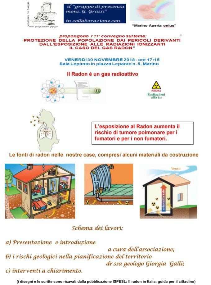 11° convegno in tema di radioattività da Radon e salute umana
