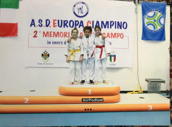 "Asd Judo Frascati, Amy Simbi e Matteo Cusano trionfano nel secondo memorial ""Gianni Campo"""