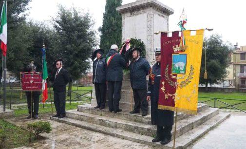 Albano Laziale, celebrazioni 4 novembre e nuovo monumento ai Caduti di tutte le guerre a Pavona