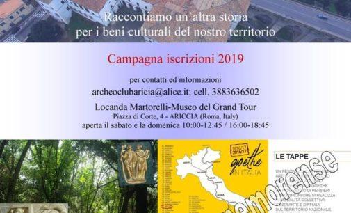 Archeoclub aricino nemorense iscrizioni 2019