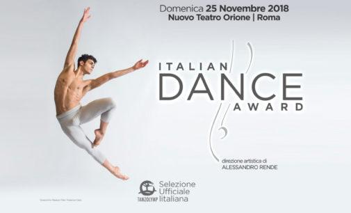 Concorso ITALIAN DANCE AWARD: domenica 25 novembre alTeatro Orione di Roma