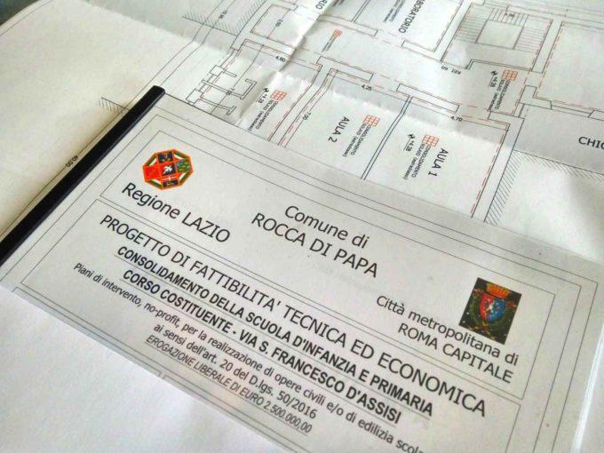 Rocca di Papa: 2,5 milioni di euro per l'adeguamento sismico della scuola del Centro Storico