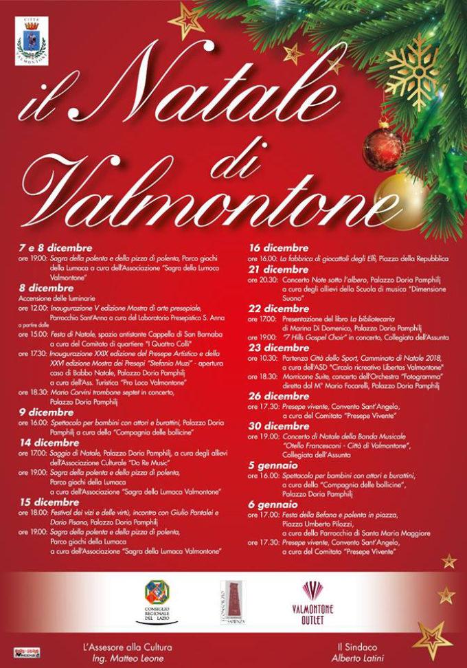 Eventi Di Natale.A Valmontone Un Mese Di Eventi Per Le Feste Di Natale