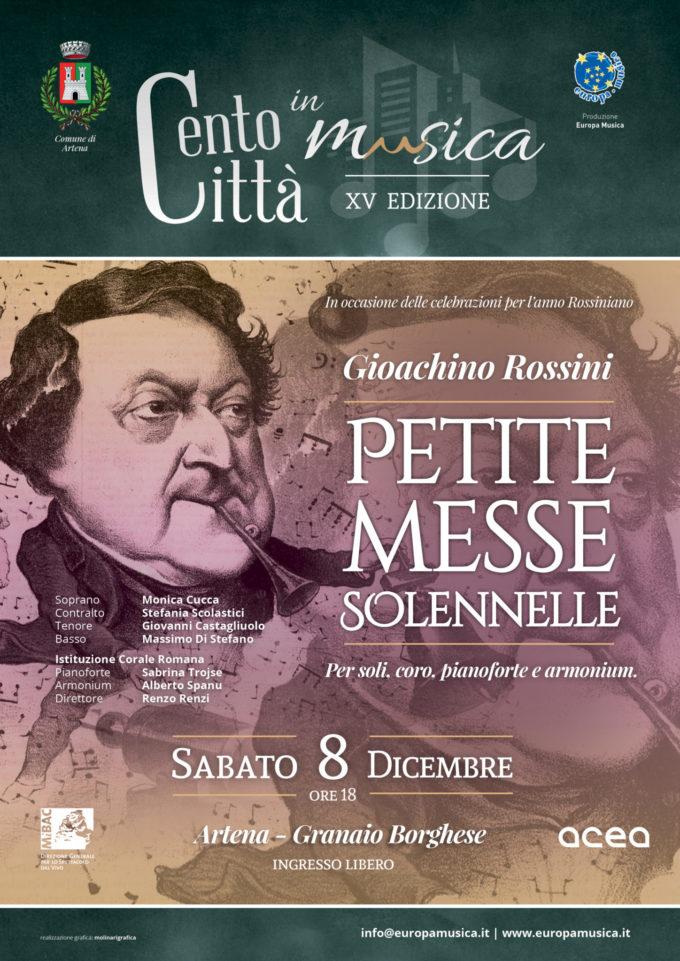 La grande musica di Rossini aprirà il mese di Artena Città Presepe