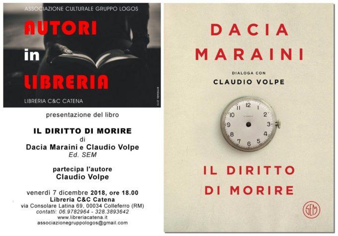 """""""Il diritto di morire"""", libro dialogo tra Dacia Maraini e Claudio Volpe"""